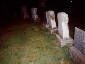 The Gonder family plot. Annie ain't invited in