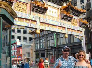here we are at the entrance to Chinatown