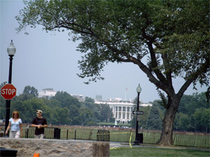the closest we got to the white house. Good news: that lady thinks I'm taking HER picture.